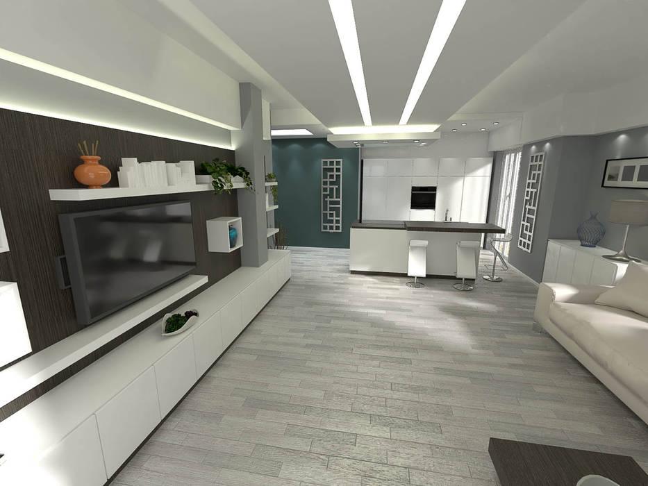 Fanchini Roberto architetto - Archifaro Salones de estilo moderno