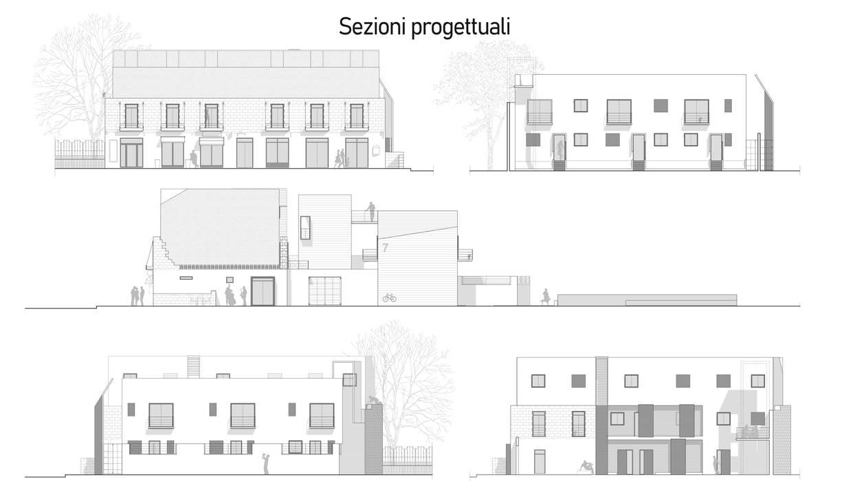 Prospetti edifici Case in stile mediterraneo di FAD Fucine Architettura Design S.r.l. Mediterraneo