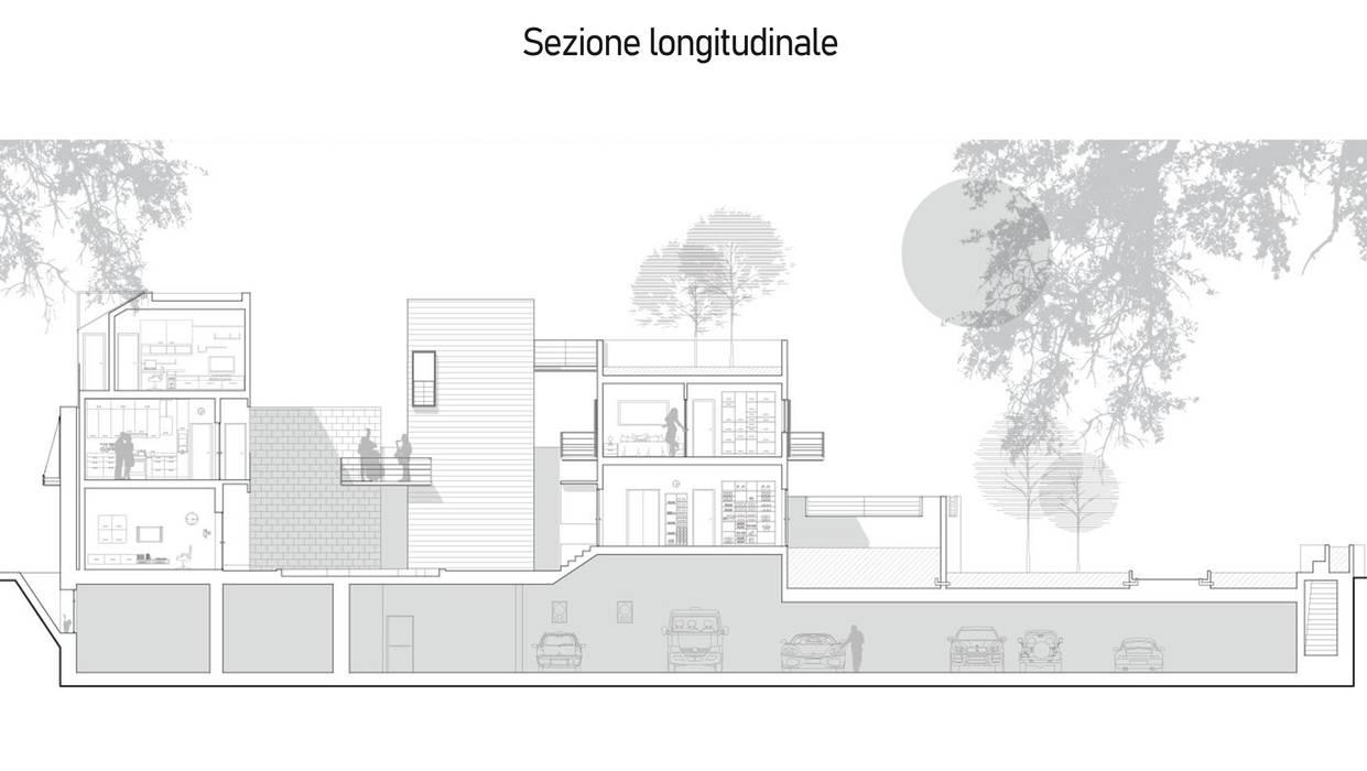 Sezione di dettaglio Case in stile mediterraneo di FAD Fucine Architettura Design S.r.l. Mediterraneo