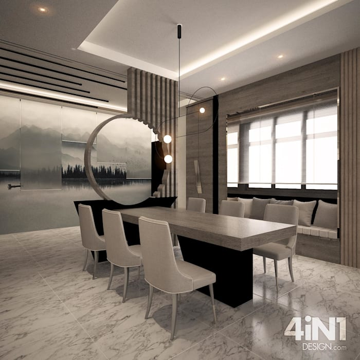DINING AREA four in one design sdn bhd Modern dining room