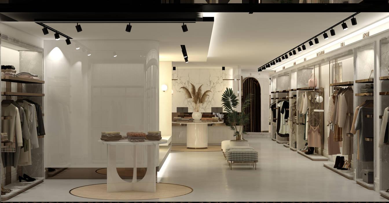 WALL INTERIOR DESIGN Oficinas y tiendas de estilo moderno