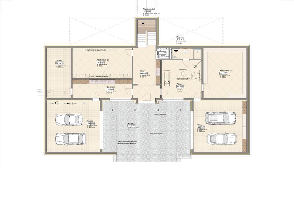 Möblierungsplan UG Moderne Häuser von Ottagono+Rechsteiner Interior AG Modern