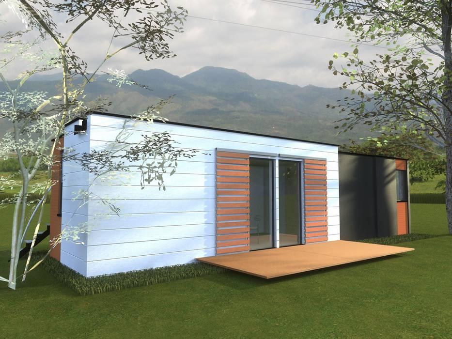 Casas eco sustentables de DeCasas.co Minimalista