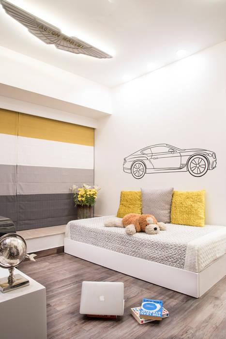 SONS BEDROOM Mansi desai Small bedroom Wood Yellow