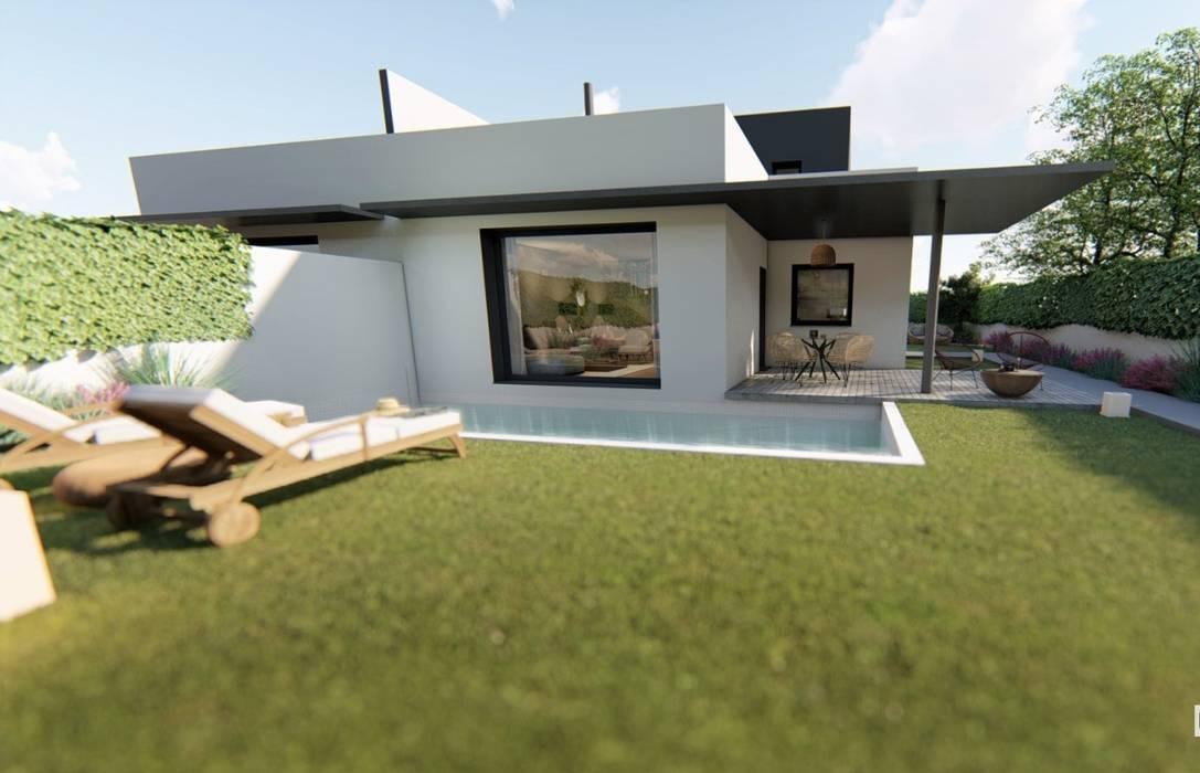 VIVIENDAS PASSIVHAUS (Viviendas de consumo casi nulo ) Casas de estilo minimalista de GF CONSTRUCCIÓN SOSTENIBLE S.L.U Minimalista
