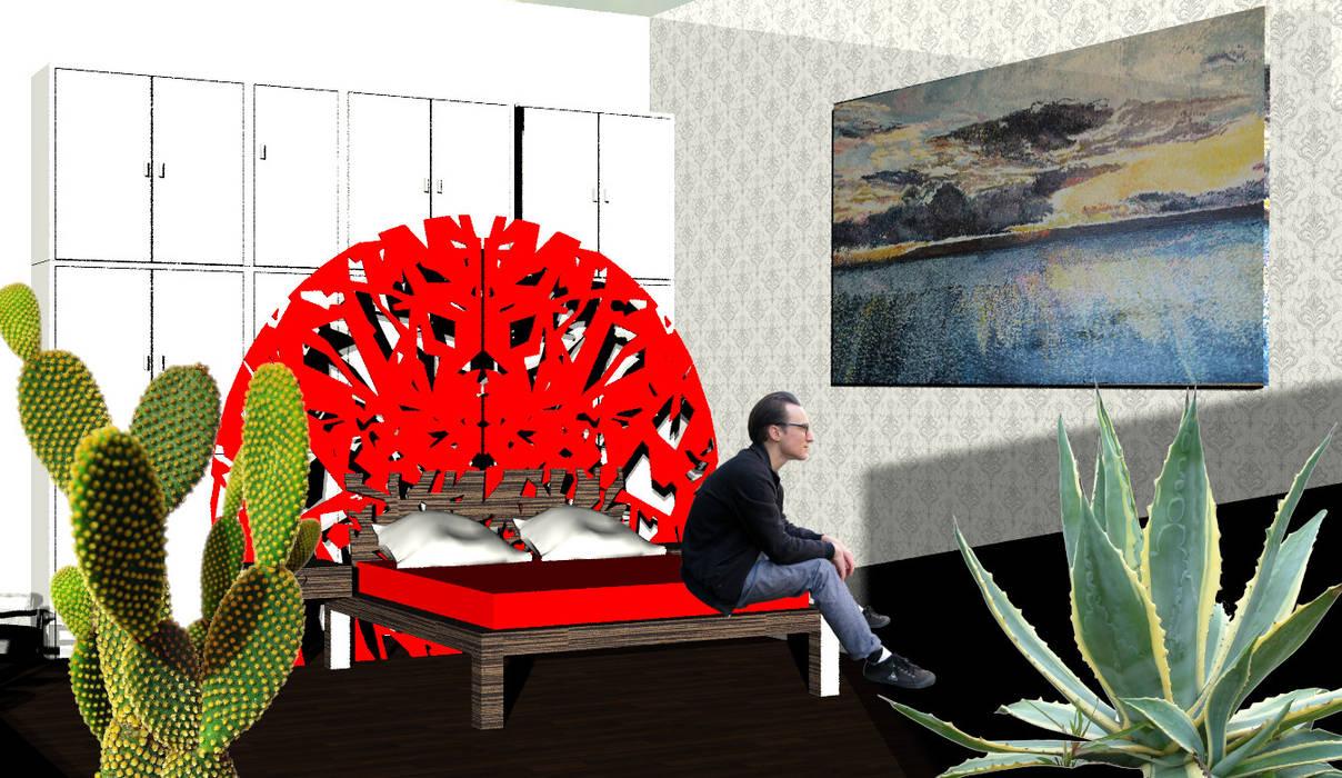 Casa Ideale Camera da letto in stile mediterraneo di Aetneas Design Mediterraneo