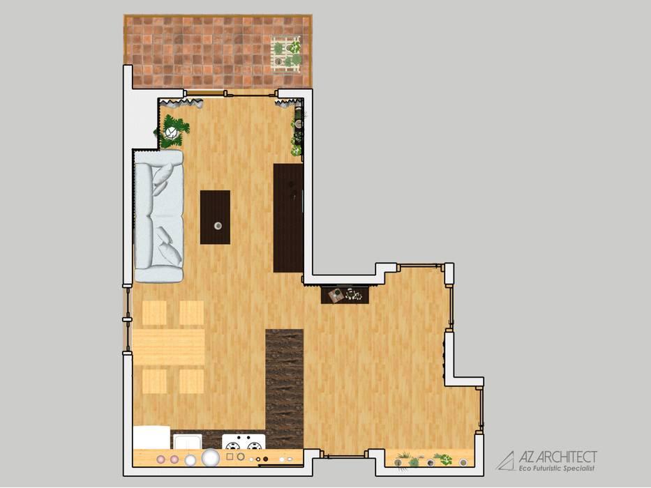 Borneo Bay Floor Plan AZ Architect Lantai