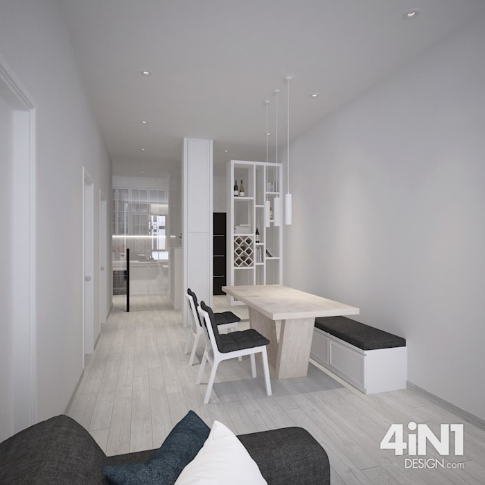Kempas Condo Design four in one design sdn bhd Modern dining room
