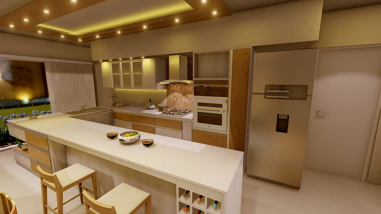 Cocina Aida tropeano& Asociados Cocinas de estilo moderno Derivados de madera Beige