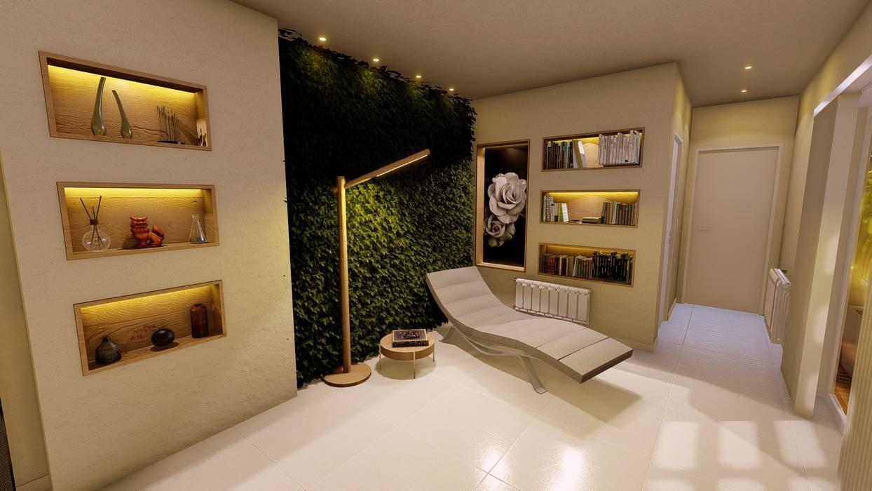 Lugar de lectura y relax Aida tropeano& Asociados Salones de estilo moderno Contrachapado Beige