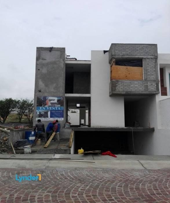 Obra gris final Casas modernas de Lynder Constructora e Inmobiliaria Moderno