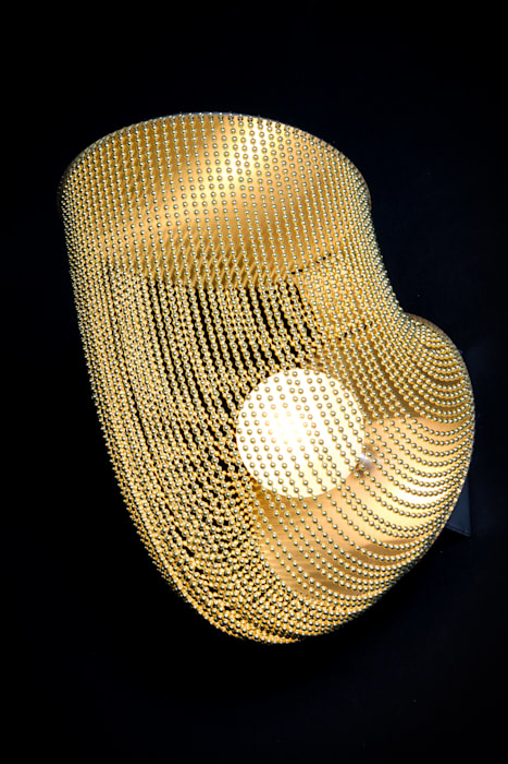 QuarterPipe Wall Sconce willowlamp BedroomLighting Aluminium/Zinc Amber/Gold