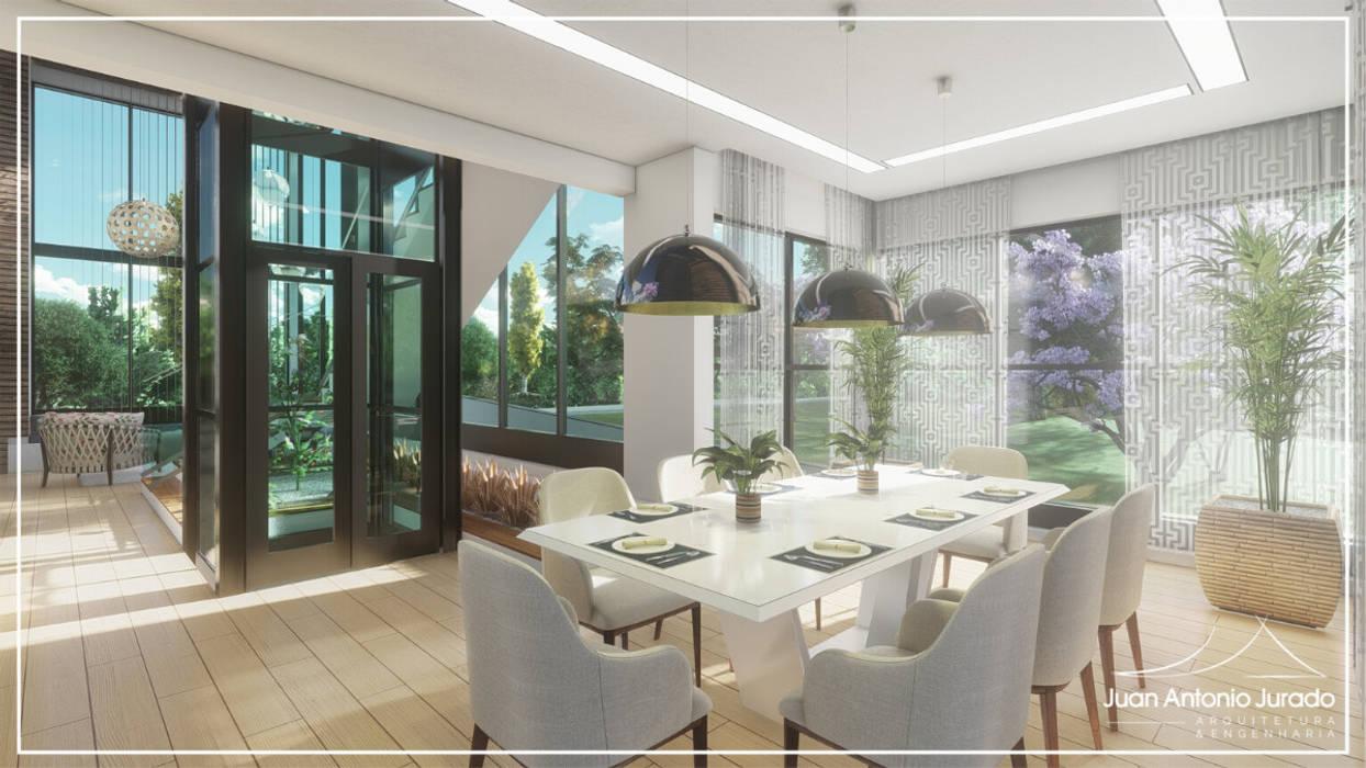 Área Lazer Salas de jantar modernas por Juan Jurado Arquitetura & Engenharia Moderno