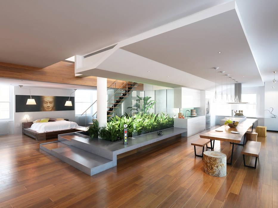 Diseño de Loft Arquitectura Progresiva Estudios y despachos modernos