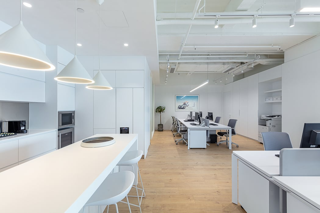 An all-white minimalism - hong kong grande interior design minimalist  offices & stores | homify