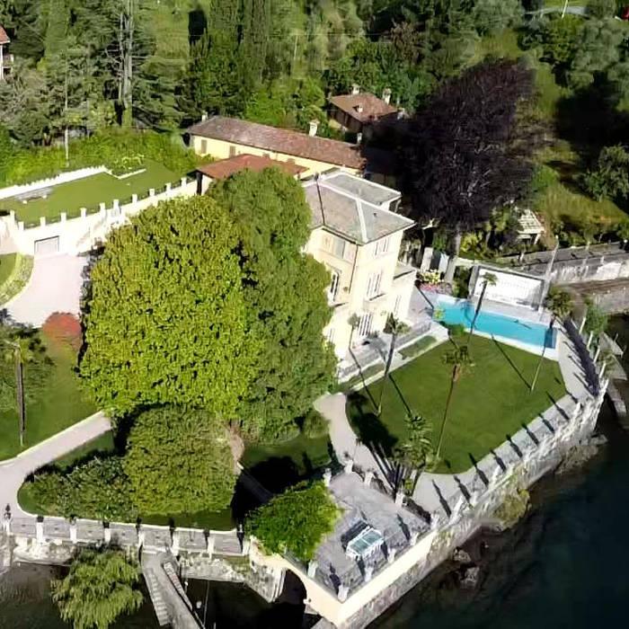 Giardino in villa sul lago di Como di RATTIFLORA Classico
