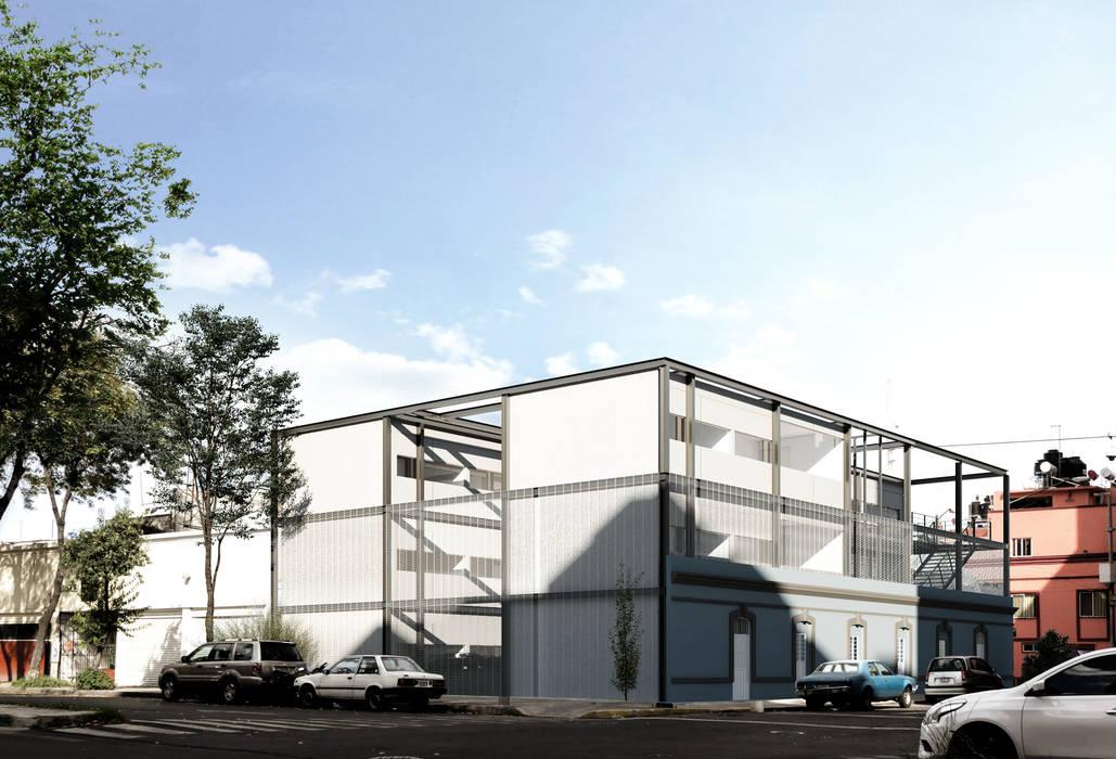 Vista exterior Casas industriales de ÚUKUM ARQUITECTOS Industrial