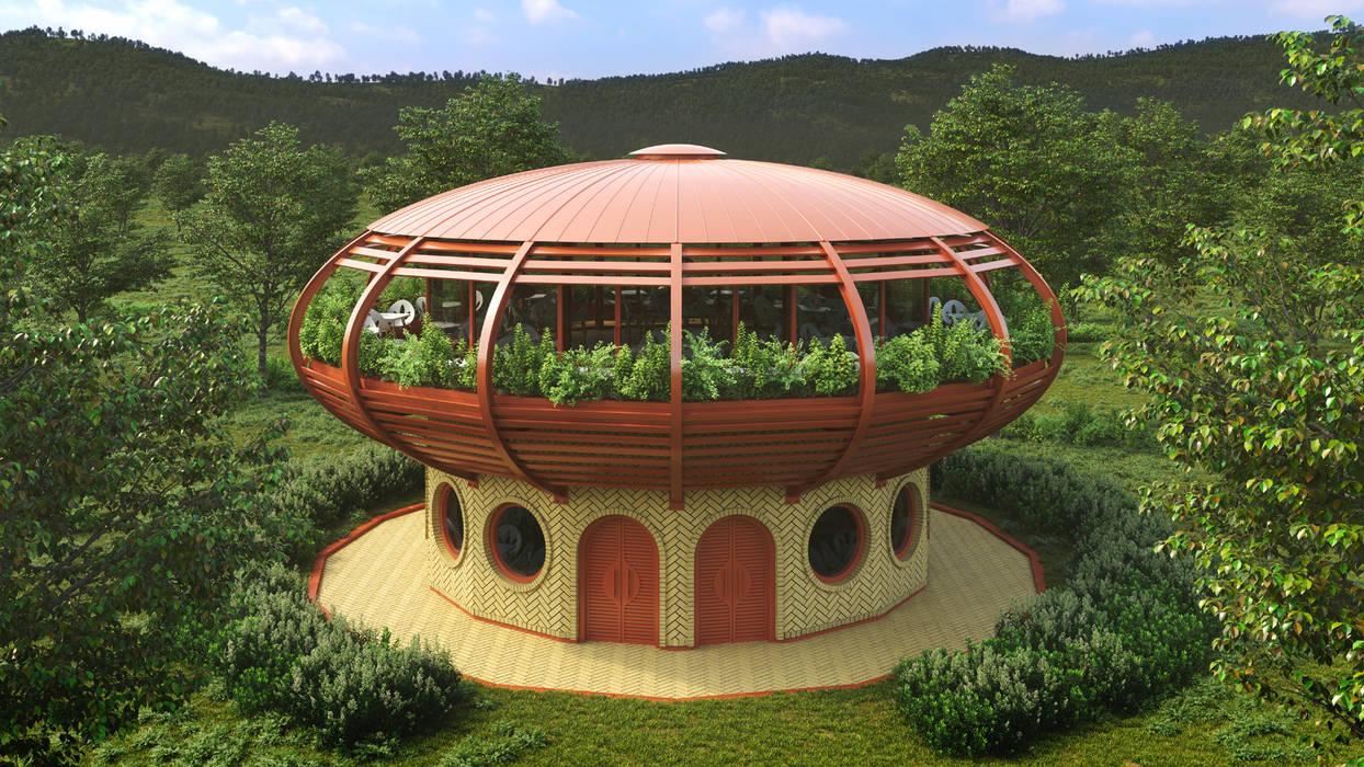 Youna Garden Case moderne di Giancarlo Zema Design Group Moderno