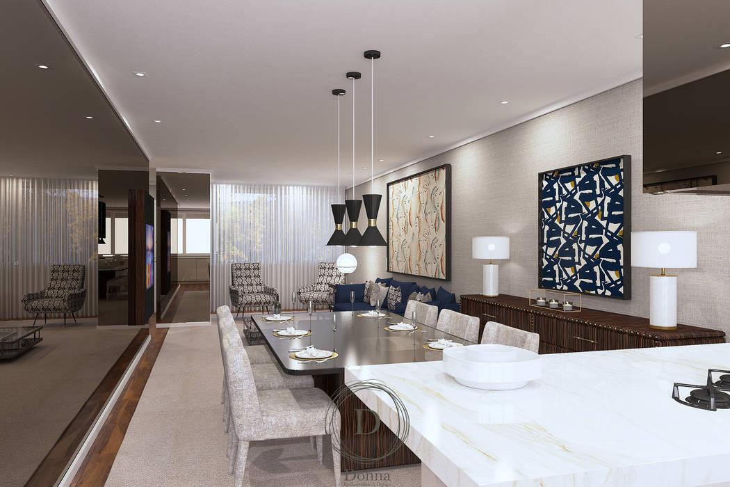 Sala de Jantar Salas de jantar modernas por Donna - Exclusividade e Design Moderno Madeira Acabamento em madeira