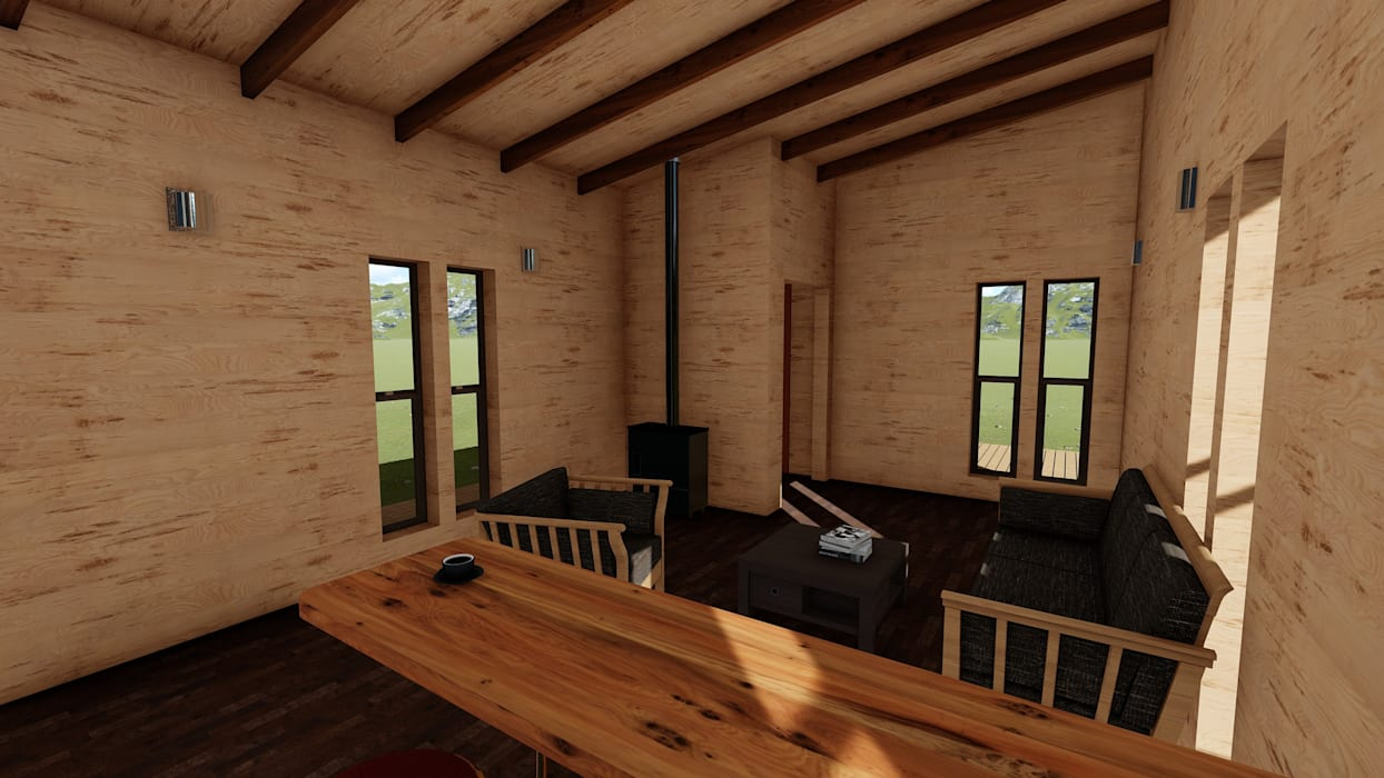Nave + Arquitectura & Modelación Paramétrica Living room