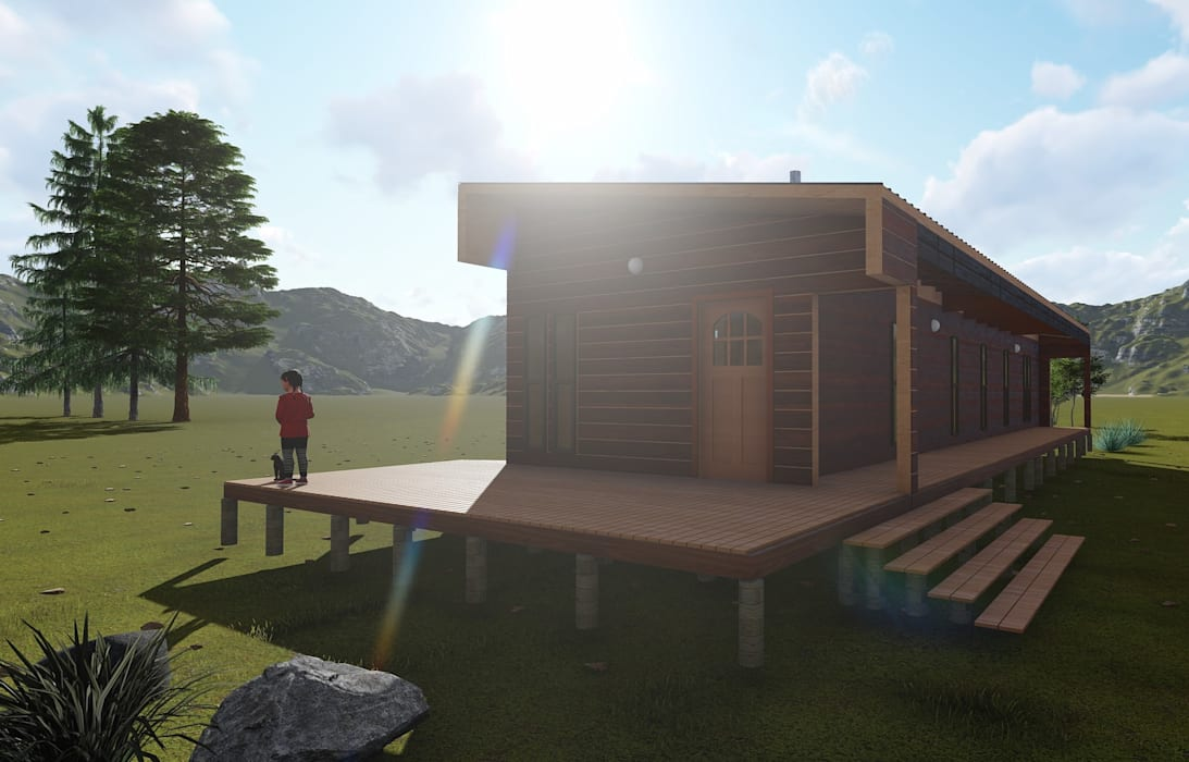 Nave + Arquitectura & Modelación Paramétrica Minimalist house