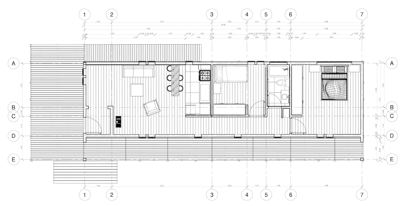 Refugio de Montaña 75 m2 Nave + Arquitectura & Modelación Paramétrica