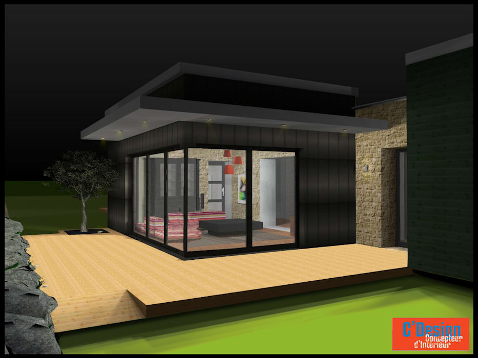 étude 3D Salon moderne par C'Design Moderne