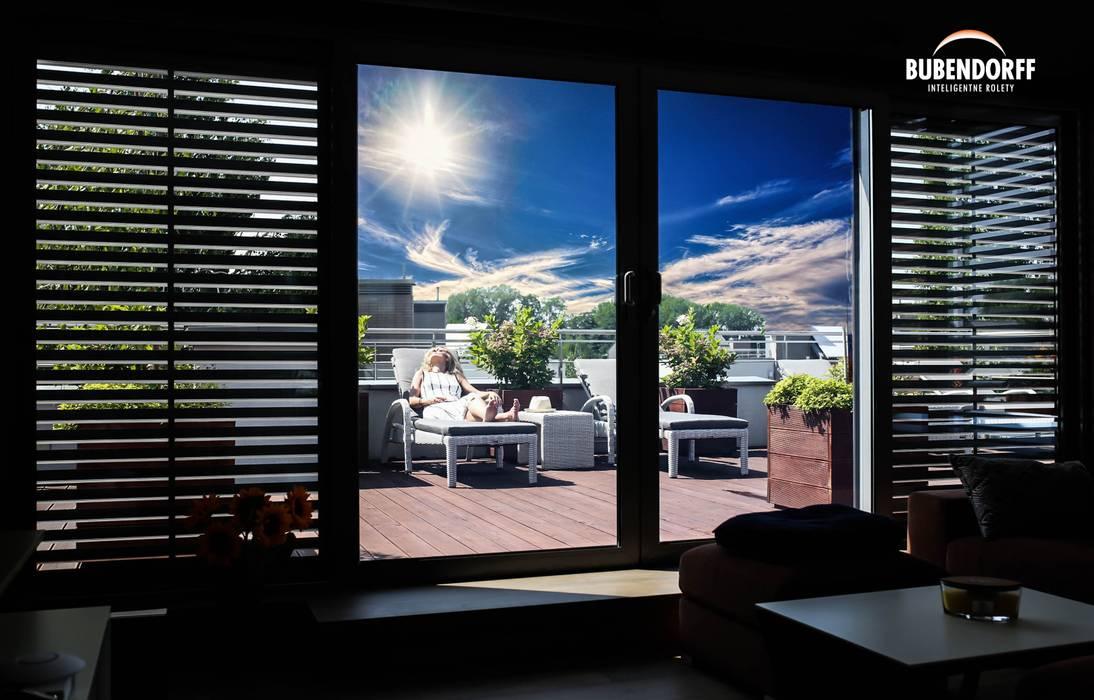 Roleta solarna z funkcją żaluzji Inteligentne Rolety Bubendorff Nowoczesne okna i drzwi