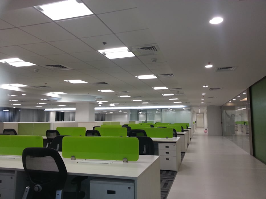 Open Office Furniture Plan by S4S Interiors LLP Classic