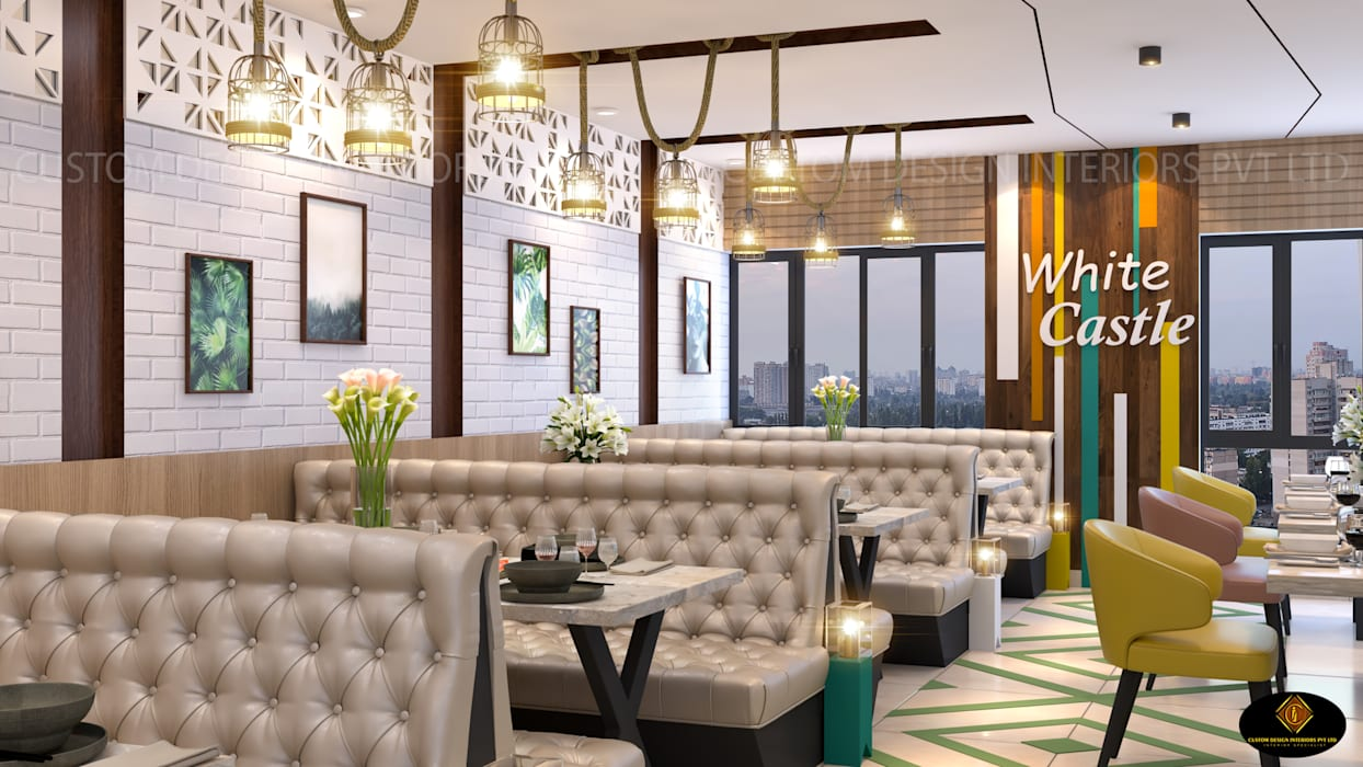 Mr Roy S Latest Modern Restaurant Kolkata Cdi Modern Corridor Hallway Stairs By Custom Design Interiors Pvt Ltd Modern Wood Plastic Composite Homify