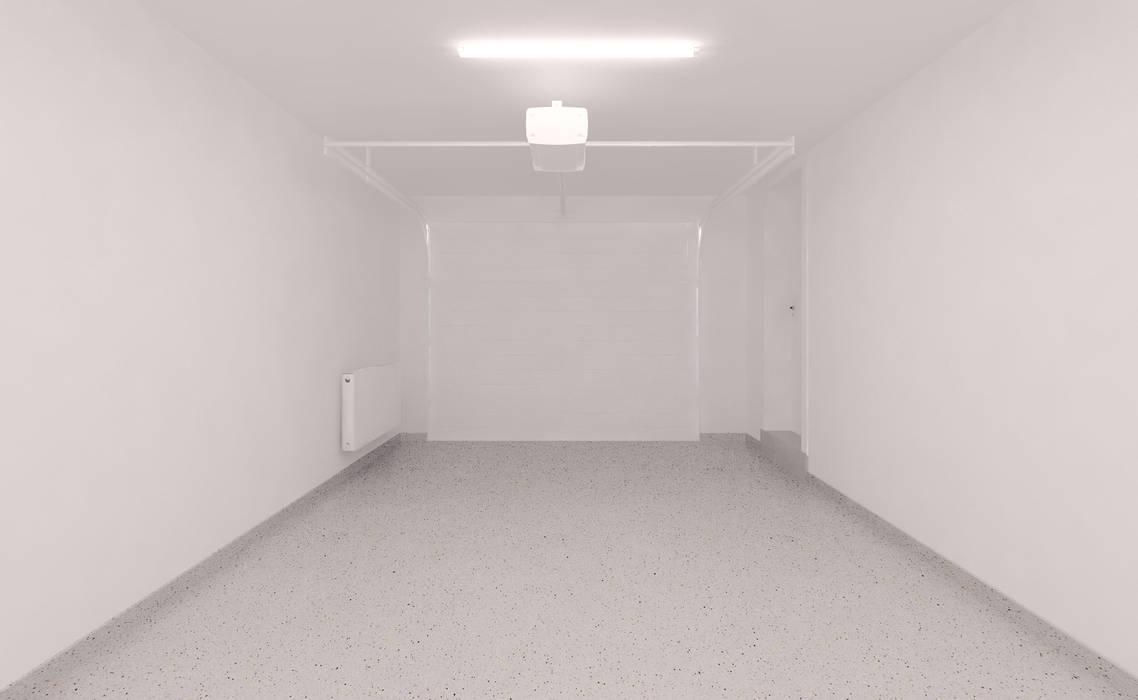 Projekt wnętrza domu MAQ Pracownia Projektowa Eklektyczny garaż