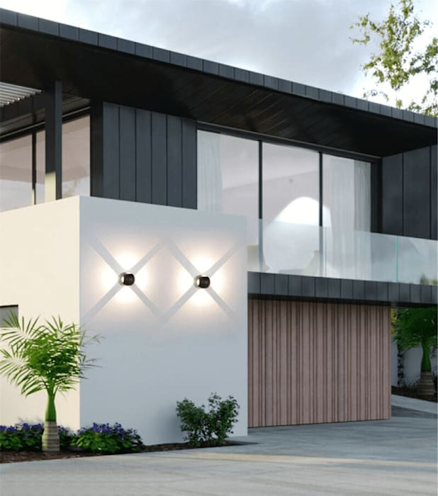Lighting Home Decor Project With Facade Lights Harold Electrical Modern Walls and Floors Aluminium/Zinc Black