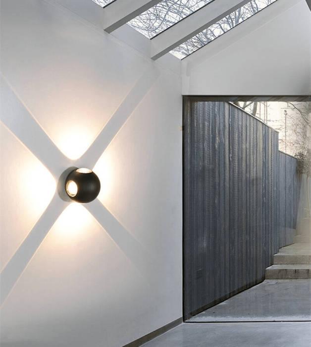 Lighting Home Decor Project With Facade Lights Harold Electrical Modern Walls and Floors Aluminium/Zinc Black