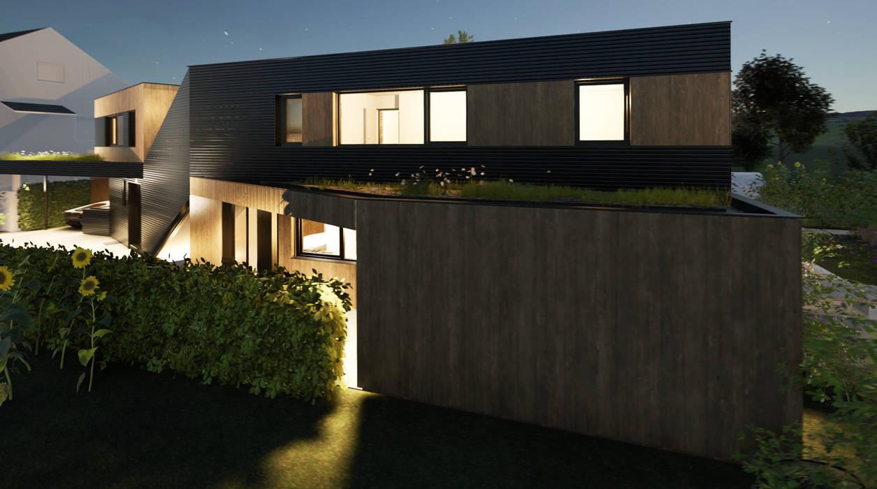 Haus X Carport Moderne Garagen & Schuppen von mAIA. Architektur+Immobilien Modern Holz Holznachbildung