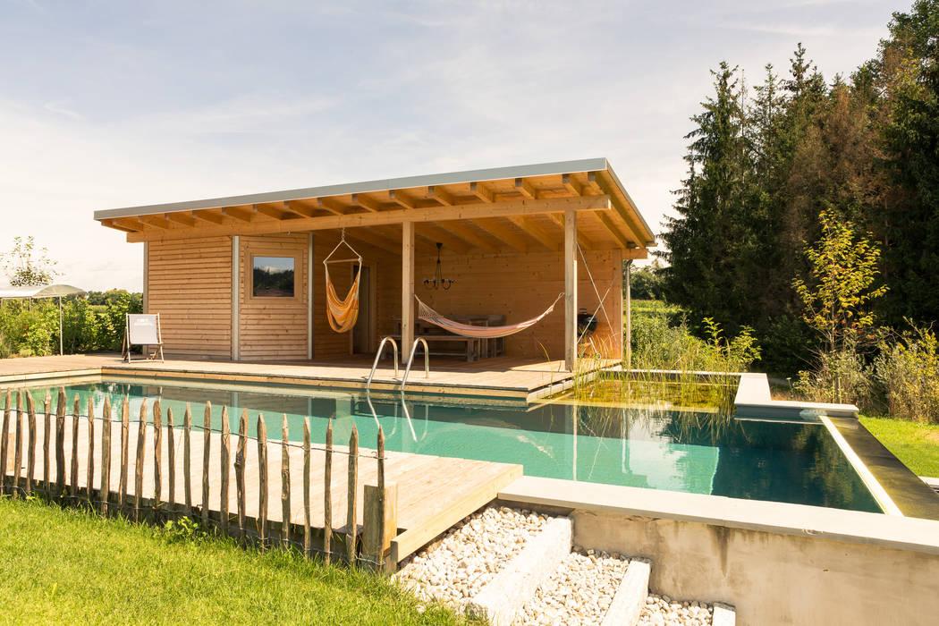 Saunahaus Salzburg Florians Hütten Boden Holz