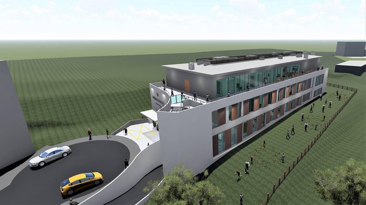 Residência para Idosos, vista Sudoeste Clínicas modernas por Screenproject Consulting Engineers, Lda Moderno