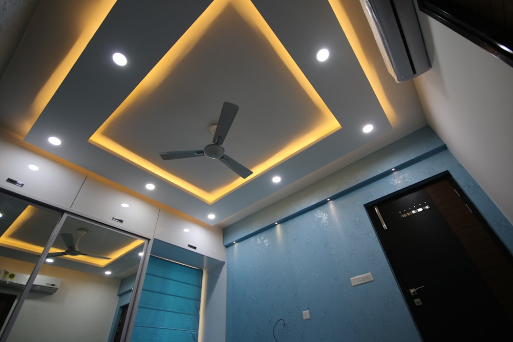 Master Bedroom Ceiling Design With Warm White Enrich Interiors Decors Modern Style Bedroom Homify
