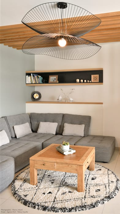 Espace salon de type dit 'scandinave' Salon moderne par Tiffany FAYOLLE Moderne