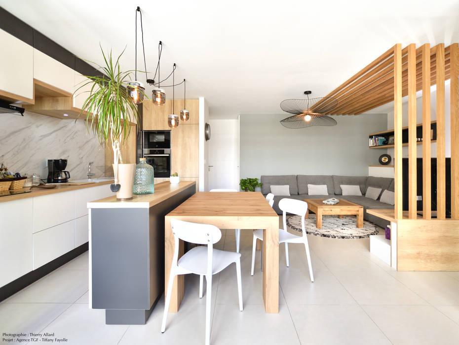 Aménagement d'un petit salon Salle à manger moderne par Tiffany FAYOLLE Moderne