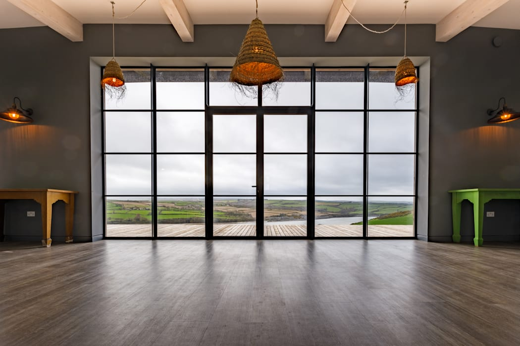Huge Full Height Art Deco Style Retro Windows Arco2 Architecture Ltd Pintu & Jendela Modern