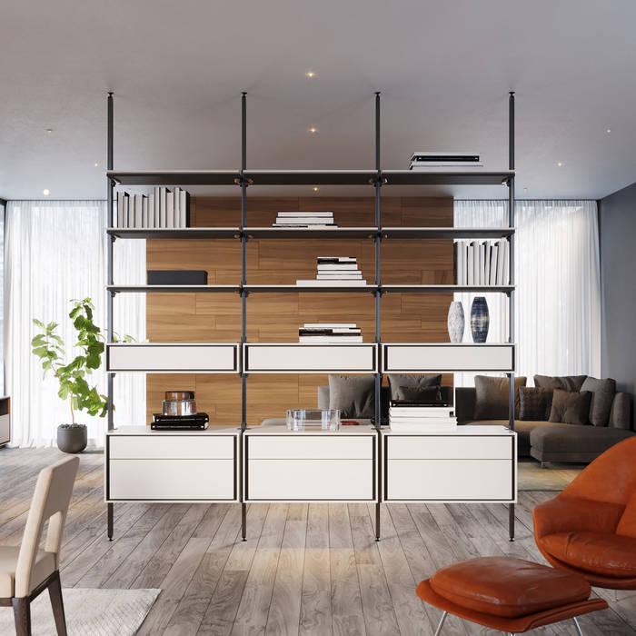 ITALIANELEMENTS Living roomShelves MDF White