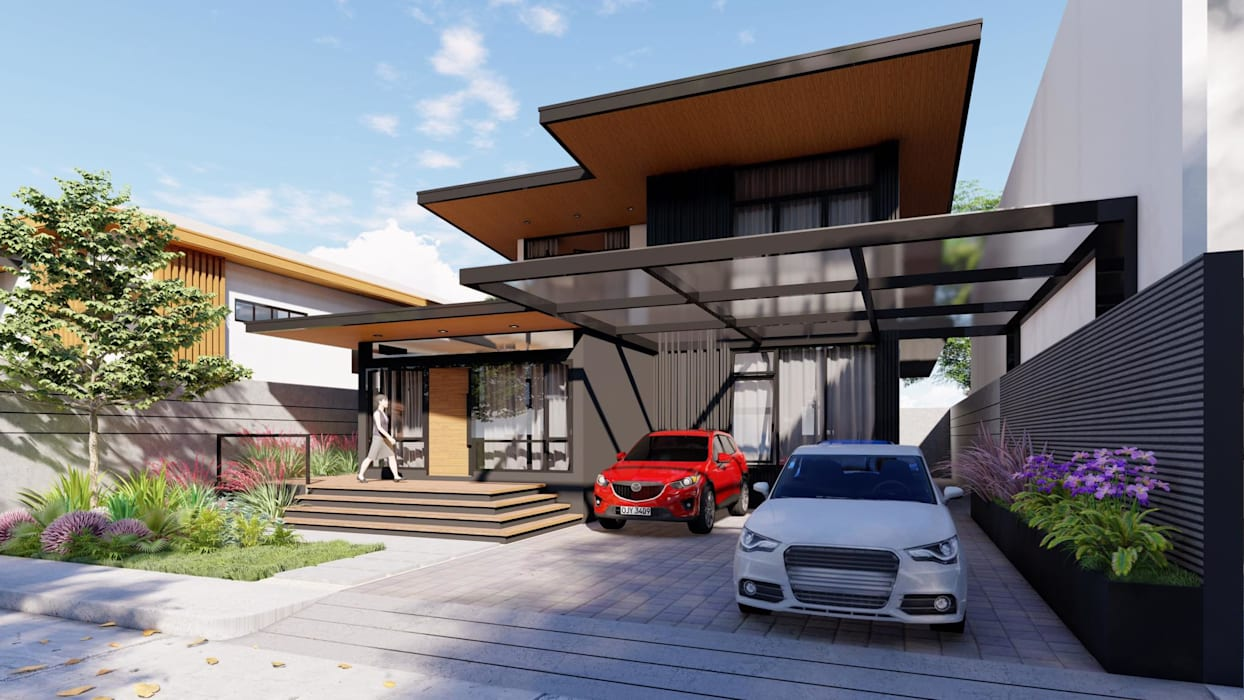 Updating the Look of a 2-Storey Makati Abode Modern home by Structura Architects Modern