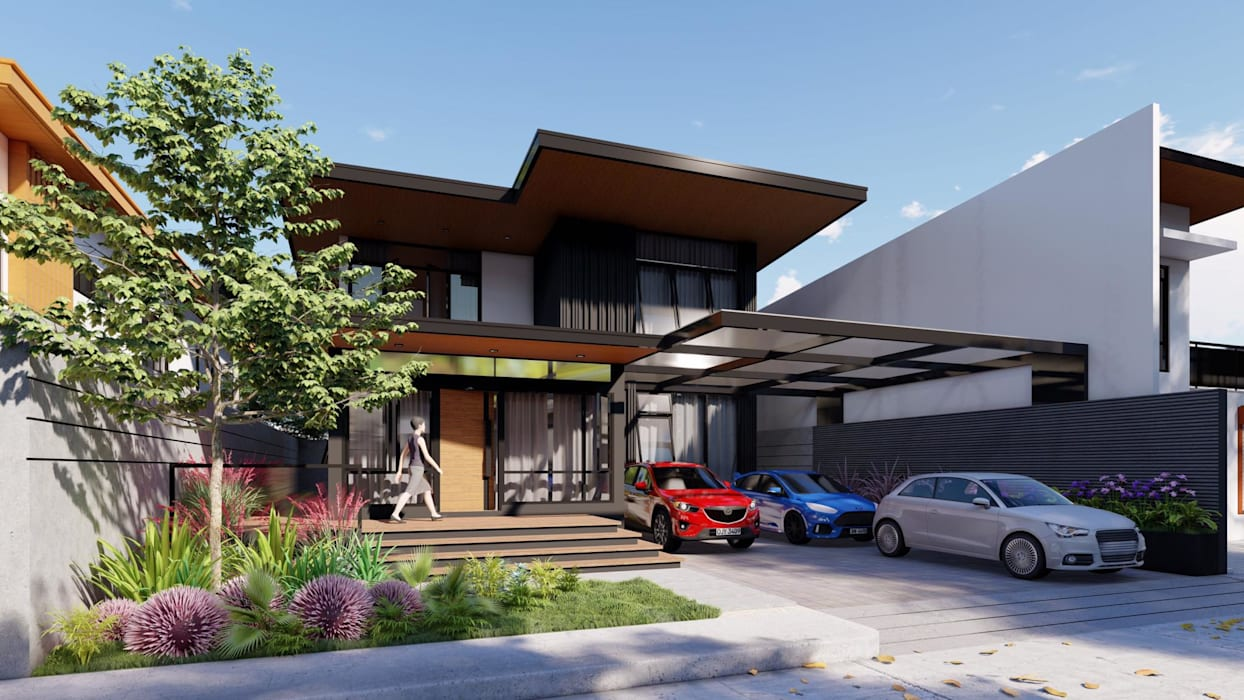 Updating the Look of a 2-Storey Makati Abode Modern home by Structura Architects Modern Concrete