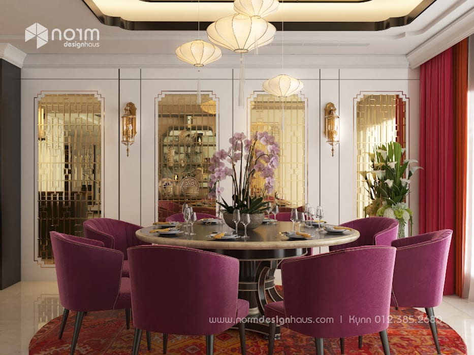 Pavilion Hilltop, Indochine Style Norm designhaus Asian style dining room