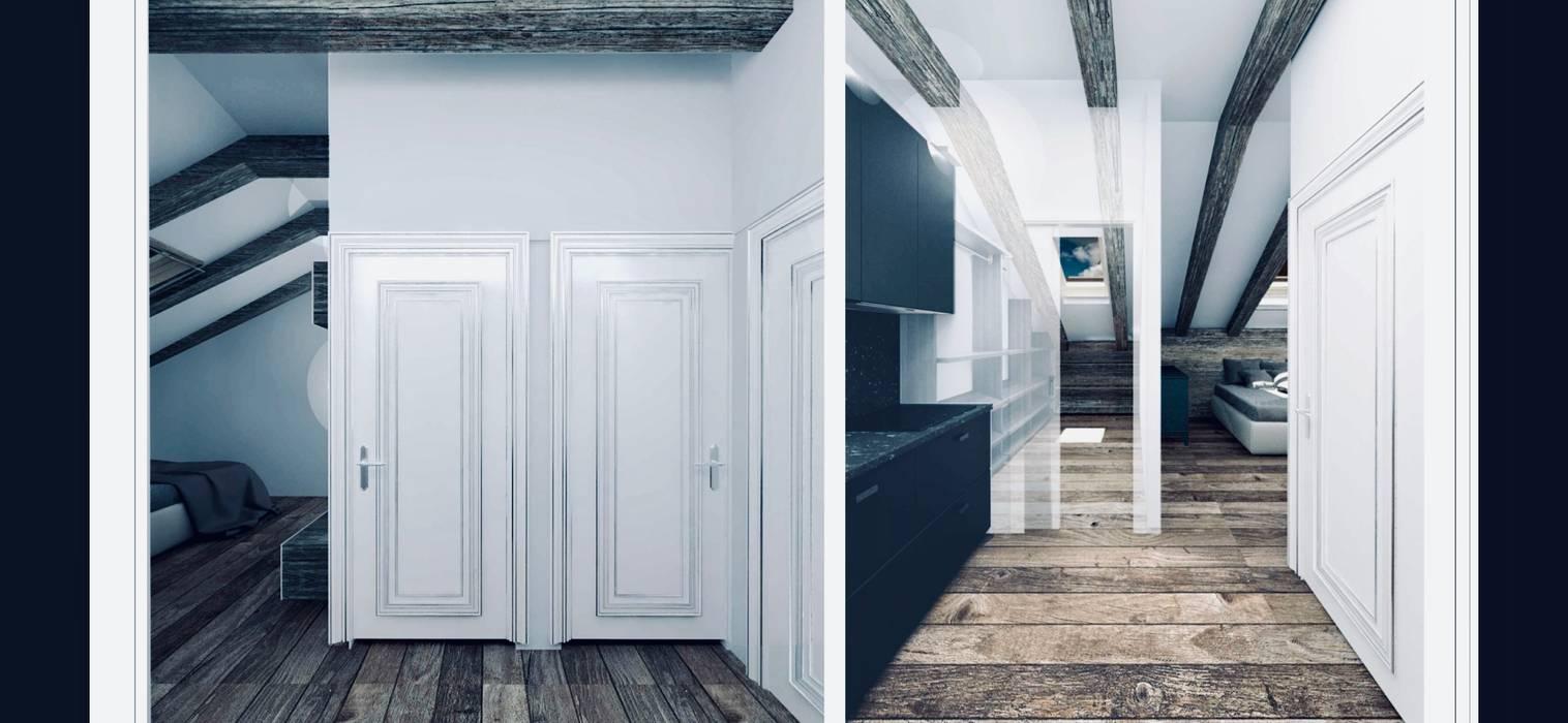 Таунхаус в стиле ИКЕА Veronika Brown Studio Коридор, прихожая и лестница в скандинавском стиле