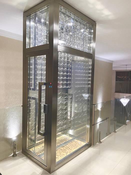 Adega projetada a gosto do cliente Adegas modernas por Gibeli Refrigeração Moderno Ferro/Aço