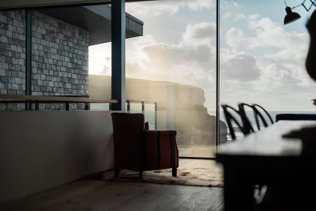 Sunset Mawgan Porth Arco2 Architecture Ltd Pintu & Jendela Modern