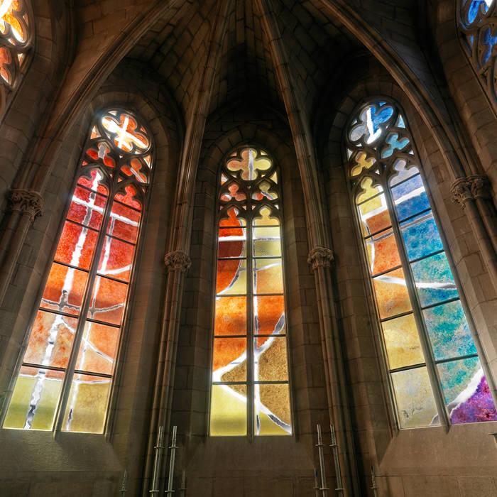 VITRALES | Basílica de la Seu de Manresa Vidriera del Cardoner Puertas y ventanas de estilo clásico Vidrio