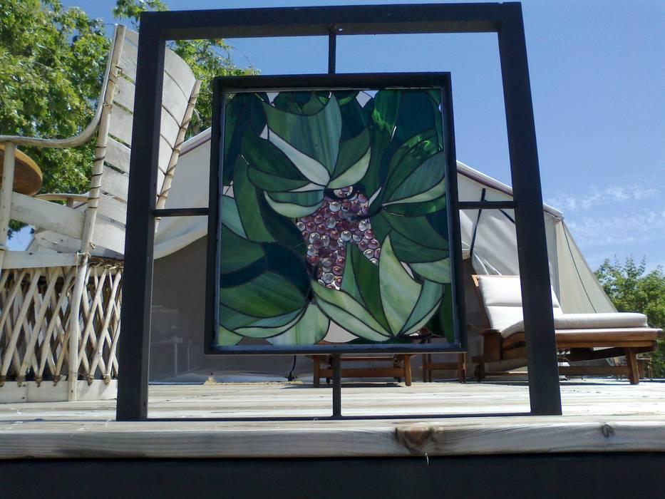 Alegoria de Vid MKVidrio Paisajismo de interiores Vidrio Verde