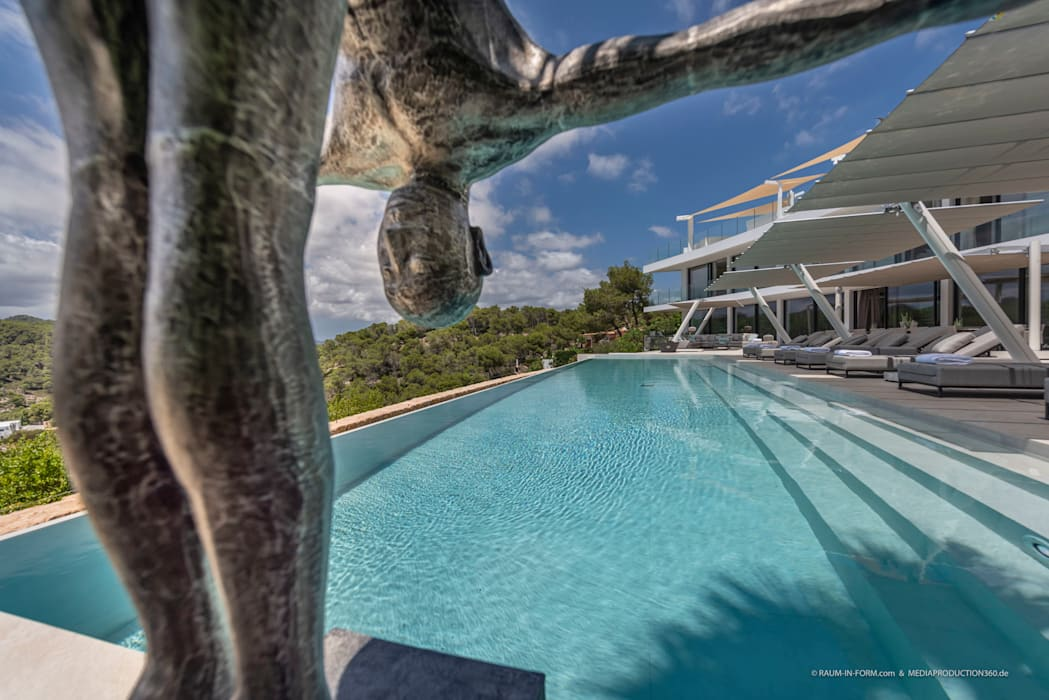 Infinitypool Moderne Pools von raum in form - Innenarchitektur & Architektur Modern